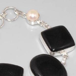 On 0296c bracelet onyx noir perle achat vente bijou argent 925