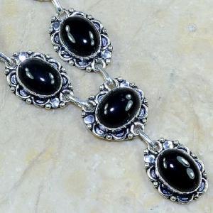 On 0297c collier sautoir onyx noir parure bijou 1900 art deco achat vente 1