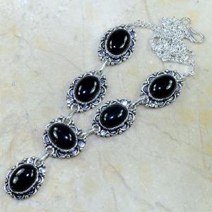 On 0297d collier sautoir onyx noir parure bijou 1900 art deco achat vente 1