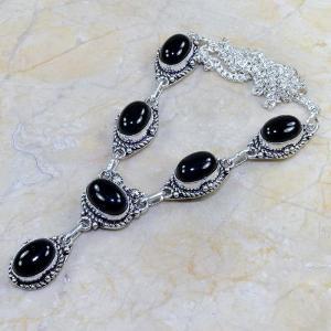 On 0299a collier sautoir onyx noir parure bijou 1900 art deco achat vente