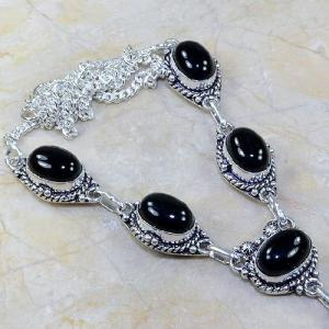 On 0299b collier sautoir onyx noir parure bijou 1900 art deco achat vente