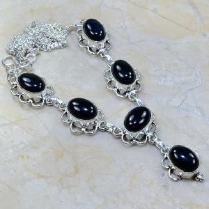 On 0301a collier sautoir onyx noir parure bijou 1900 art deco achat vente