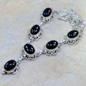On 0301e collier sautoir onyx noir parure bijou 1900 art deco achat vente