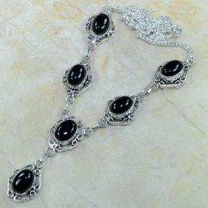 On 0309a collier sautoir onyx noir parure bijou 1900 art deco achat vente 1