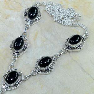 On 0309b collier sautoir onyx noir parure bijou 1900 art deco achat vente