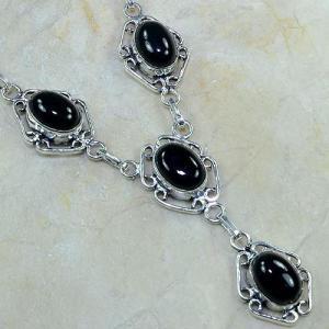 On 0309c collier sautoir onyx noir parure bijou 1900 art deco achat vente
