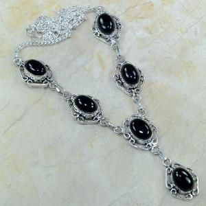On 0309d collier sautoir onyx noir parure bijou 1900 art deco achat vente 1