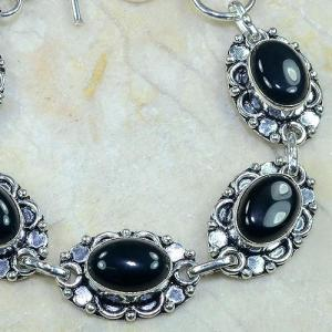 On 0310b bracelet onyx noir achat vente bijou argent 925
