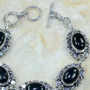 On 0310c bracelet onyx noir achat vente bijou argent 925