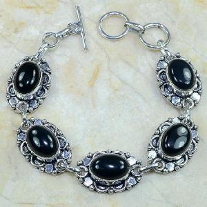 On 0310d bracelet onyx noir achat vente bijou argent 925