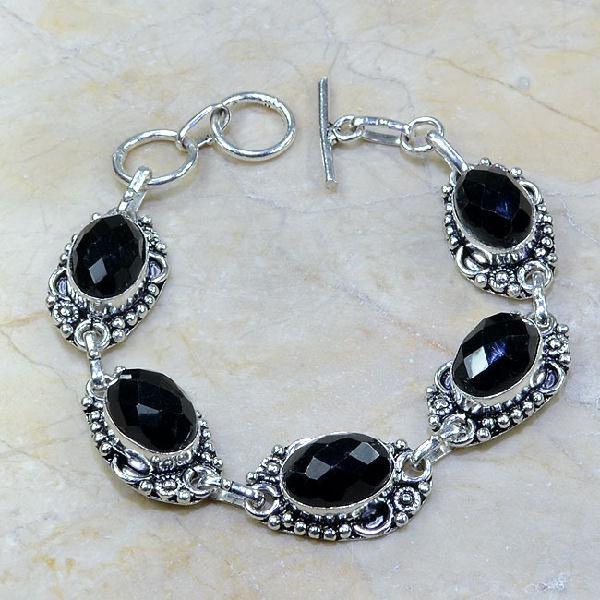 On 0311a bracelet onyx noir achat vente bijou argent 925