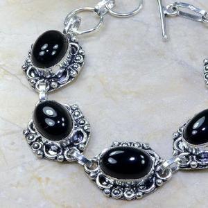 On 0312b bracelet onyx noir achat vente bijou argent 925