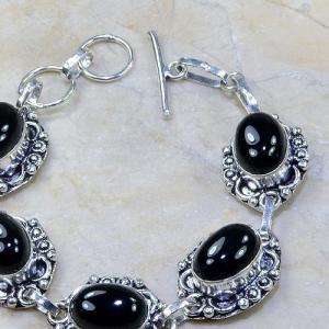 On 0312c bracelet onyx noir achat vente bijou argent 925
