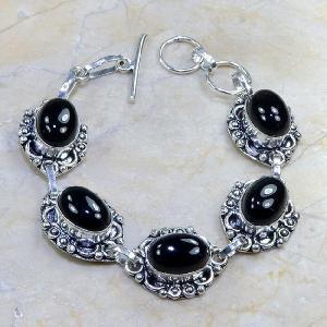On 0312d bracelet onyx noir achat vente bijou argent 925