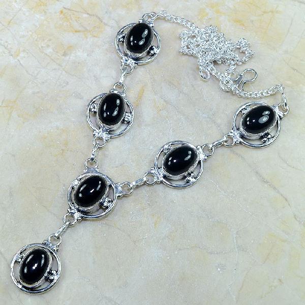 On 0313a collier sautoir onyx noir parure bijou 1900 art deco achat vente
