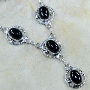 On 0313c collier sautoir onyx noir parure bijou 1900 art deco achat vente