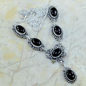 On 0314a collier sautoir onyx noir parure bijou 1900 art deco achat vente