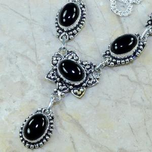 On 0314c collier sautoir onyx noir parure bijou 1900 art deco achat vente