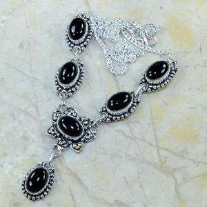 On 0314d collier sautoir onyx noir parure bijou 1900 art deco achat vente