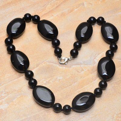 On 0355b collier sautoir onyx noir parure bijou 1900 art deco achat vente