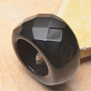 On 0356a bague 58 gemme onyx noir bijou 1900 art deco achat vente