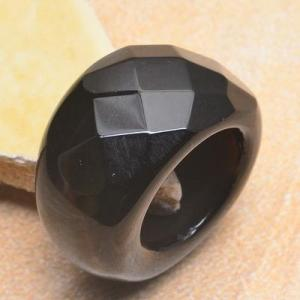 On 0356b bague 58 gemme onyx noir bijou 1900 art deco achat vente