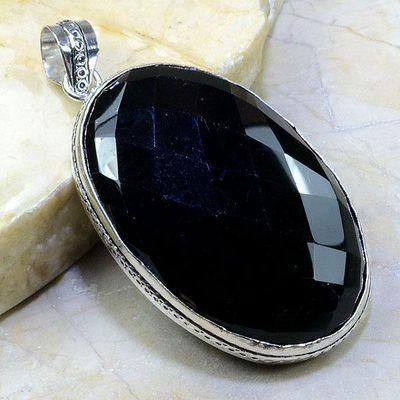 On 0358a pendentif onyx noir gemme pierre taillee achat vente bijou