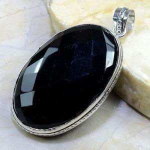 On 0358b pendentif onyx noir gemme pierre taillee achat vente bijou