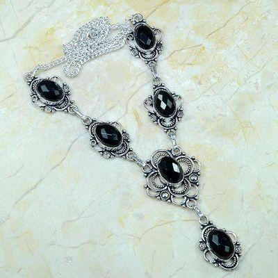On 0360a collier sautoir onyx noir parure bijou 1900 art deco achat vente