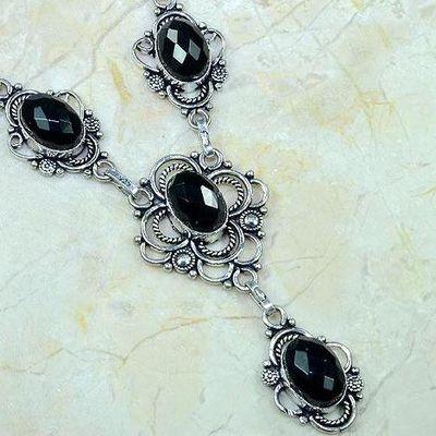 On 0360c collier sautoir onyx noir parure bijou 1900 art deco achat vente
