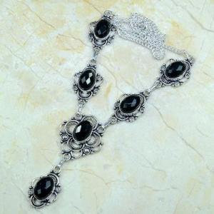 On 0360d collier sautoir onyx noir parure bijou 1900 art deco achat vente
