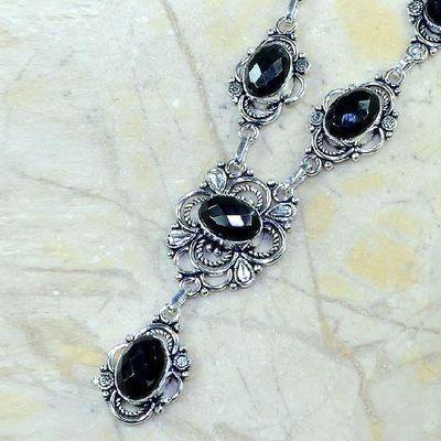 On 0361c collier sautoir onyx noir parure bijou 1900 art deco achat vente