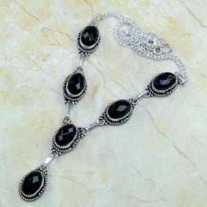 On 0363a collier sautoir onyx noir parure bijou 1900 art deco achat vente