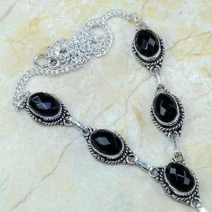 On 0363b collier sautoir onyx noir parure bijou 1900 art deco achat vente