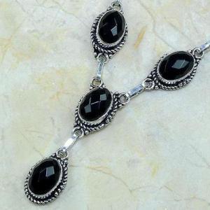 On 0363c collier sautoir onyx noir parure bijou 1900 art deco achat vente