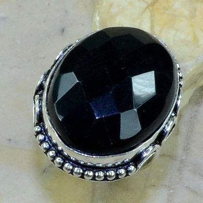 On 0364a bague 57 gemme onyx noir bijou 1900 art deco achat vente