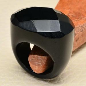 On 0368aa bague 57 gemme onyx noir bijou 1900 art deco achat vente