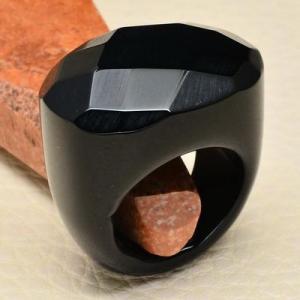 On 0368ab bague 57 gemme onyx noir bijou 1900 art deco achat vente