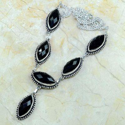 On 0369a collier sautoir onyx noir parure bijou 1900 art deco achat vente