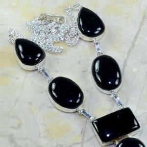 On 0370c collier sautoir onyx noir parure bijou 1900 art deco achat vente
