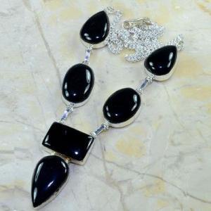 On 0370d collier sautoir onyx noir parure bijou 1900 art deco achat vente