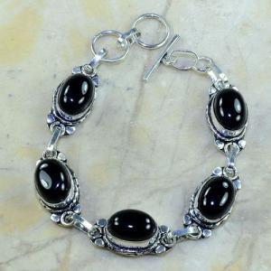 On 0380a bracelet onyx noir achat vente bijou argent 925
