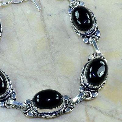 On 0380b bracelet onyx noir achat vente bijou argent 925