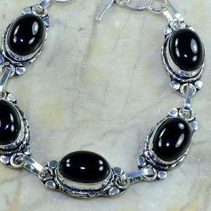 On 0380c bracelet onyx noir achat vente bijou argent 925