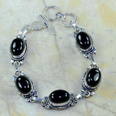 On 0380d bracelet onyx noir achat vente bijou argent 925