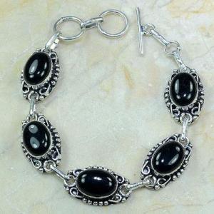 On 0381a bracelet onyx noir achat vente bijou argent 925