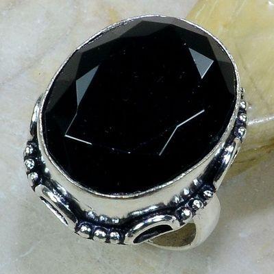On 0384a bague 56 gemme onyx noir bijou 1900 art deco achat vente