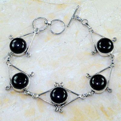On 0402a bracelet onyx noir achat vente bijou 1900 belle epoque argent 925