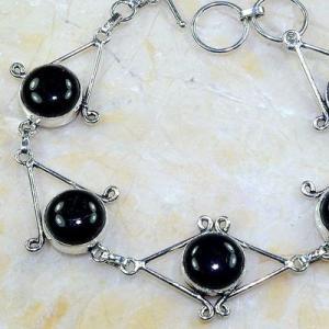 On 0402b bracelet onyx noir achat vente bijou 1900 belle epoque argent 925