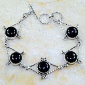 On 0402d bracelet onyx noir achat vente bijou 1900 belle epoque argent 925